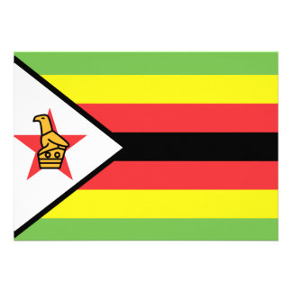 Zimbabwe Flag Personalized Announcements