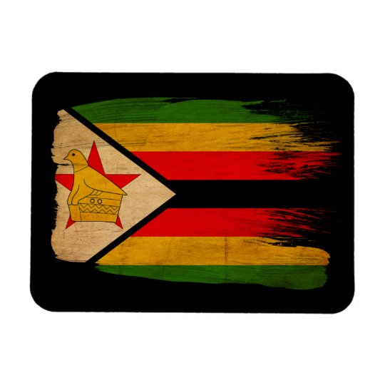 Zimbabwe Flag Rectangular Photo Magnet