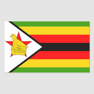 Zimbabwe Flag Rectangular Sticker