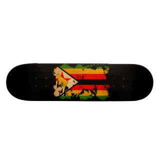 Zimbabwe Flag Skate Board Deck