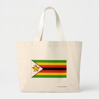 Zimbabwe Flag Jumbo Tote Bag