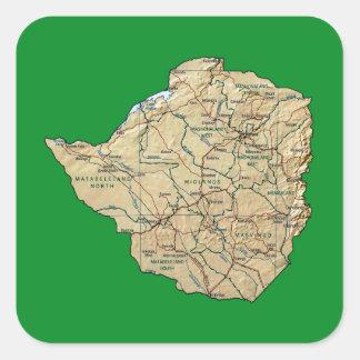 Zimbabwe Map Sticker