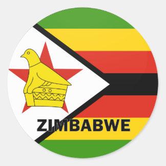 Zimbabwe Roundel quality Flag Classic Round Sticker