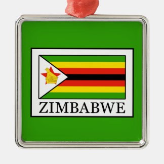 Zimbabwe Silver-Colored Square Decoration