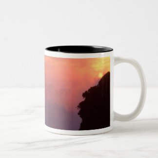Zimbabwe, Victoria Falls National Park. Misty Two-Tone Coffee Mug