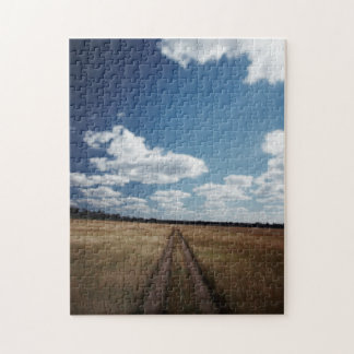 Zimbabwe, View of road near Linkwasha Airstrip 1 Jigsaw Puzzle