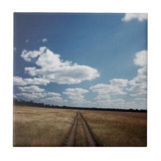 Zimbabwe, View of road near Linkwasha Airstrip 1 Tile