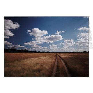 Zimbabwe, View of road near Linkwasha Airstrip 2 Card