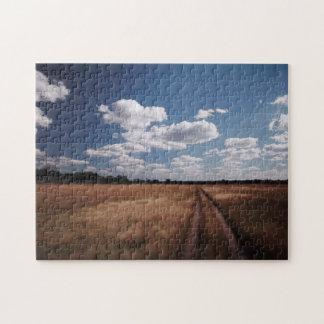 Zimbabwe, View of road near Linkwasha Airstrip 2 Jigsaw Puzzle