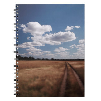Zimbabwe, View of road near Linkwasha Airstrip 2 Notebooks
