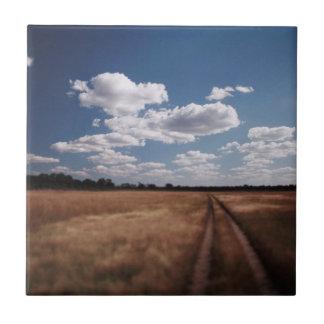 Zimbabwe, View of road near Linkwasha Airstrip 2 Tile