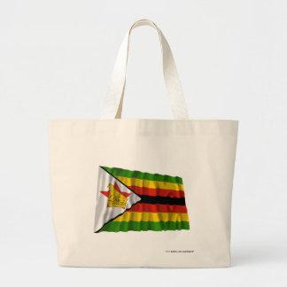 Zimbabwe Waving Flag Canvas Bag