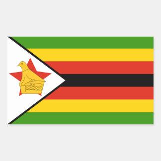 Zimbabwe/Zimbabwean Flag Rectangular Sticker