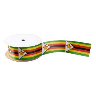 Zimbabwean flag ribbon satin ribbon