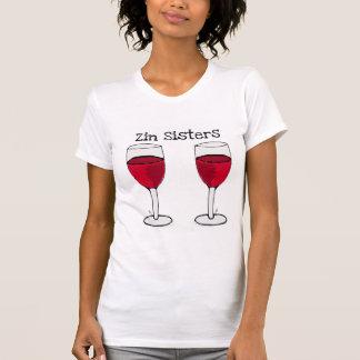 ZIN SISTERS TWIN WINE GLASS PRINT by jill Tshirt