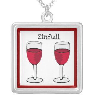 ZINFULL RED WINE GLASSES PRINT JEWELRY