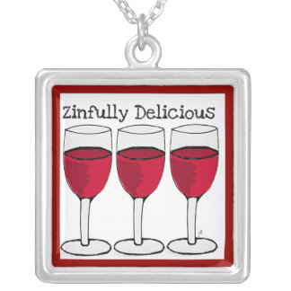 ZINFULLY DELICIOUS RED WINE GLASSSES PRINT JEWELRY