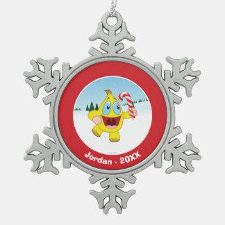 Zingoz Snowflake Pewter Christmas Ornament