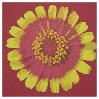 Zinnia bicolor - Fabric