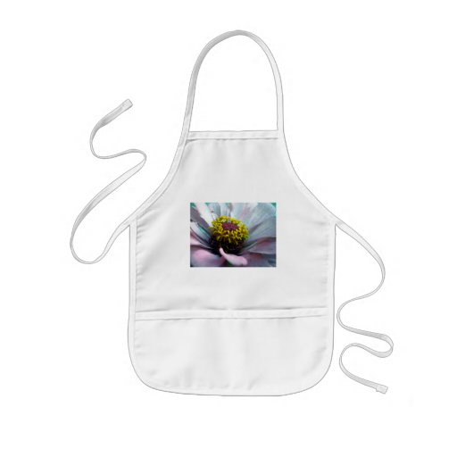 Zinnia Bloom Inside Pastel Pink Aprons