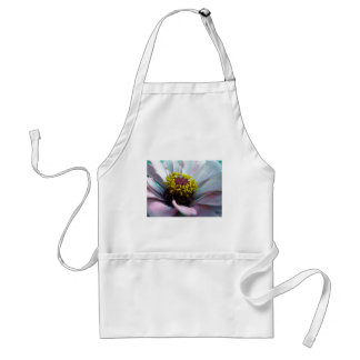 Zinnia Bloom Inside Pastel Pink Adult Apron