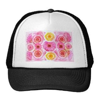 ZINNIA Flower Collage -  Artistic Transformations Trucker Hat