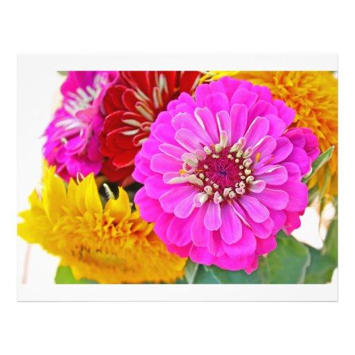 Zinnia flower flyer