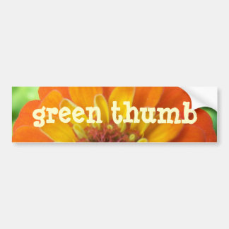 Zinnia, Green-Thumb Bumper Sticker
