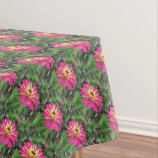 ZINNIA - Vibrant Pink and Cream - Tablecloth