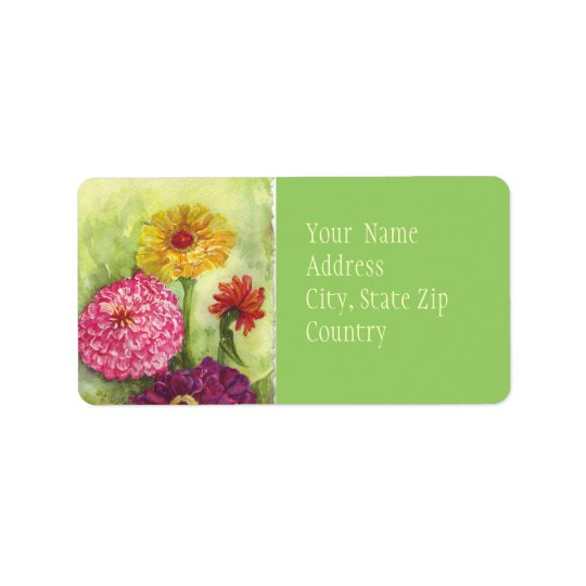 Zinnias Avery Label Address Label