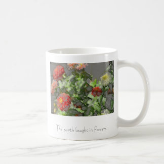 zinnias, The earth laughs in flowers Coffee Mug