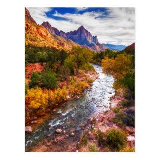 Zion Autumn Splendor Postcard