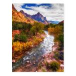 Zion Autumn Splendour Postcard