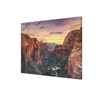 Zion Canyon National Park Canvas Print