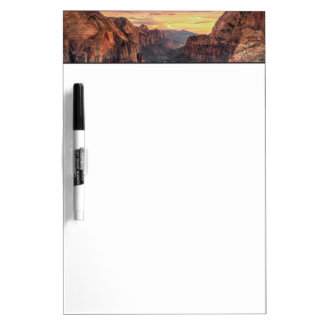 Zion Canyon National Park Dry Erase Board