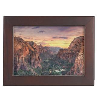 Zion Canyon National Park Keepsake Box