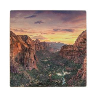 Zion Canyon National Park Maple Wood Coaster