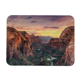 Zion Canyon National Park Rectangular Photo Magnet