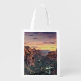 Zion Canyon National Park Reusable Grocery Bag