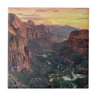 Zion Canyon National Park Tile