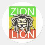 ZION LION ROUND STICKERS