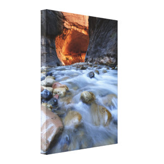 """Zion Narrows Print on Wrapped Canvas 18"""" x 24"""" Gallery Wrap Canvas"""