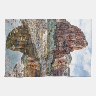 Zion National Park Angels Landing - Digital Paint Tea Towel