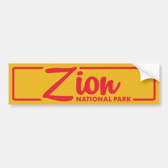 Zion National Park Bumper Sticker