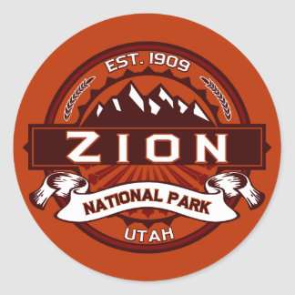 Zion National Park Crimson Classic Round Sticker