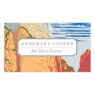 Zion National Park Pack Of Standard Business Cards