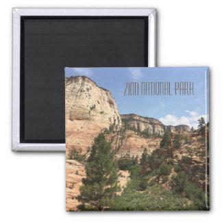 Zion National Park USA Square Magnet