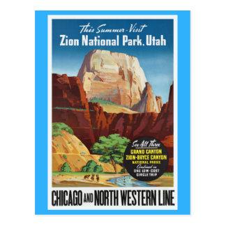 Zion National Park,Utah America Travel Postcard