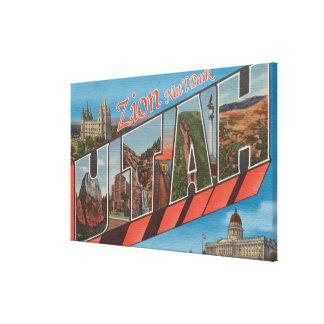 Zion National Park, Utah - Large Letter Scenes Canvas Print