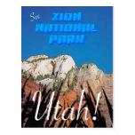 Zion National Park - Vintage Style Postcard